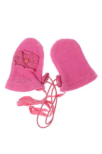 Gants rose IDEO pour fille