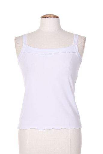 telmail t-shirts femme de couleur blanc