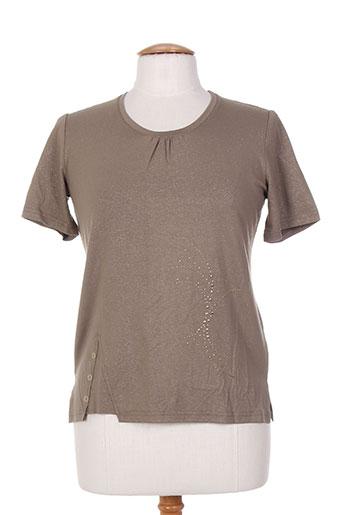 jean gabriel t-shirts femme de couleur vert