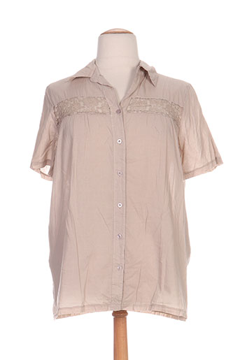 telmail chemises femme de couleur beige