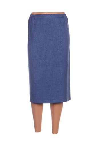 Jupe mi-longue bleu FASHION COLLECTION pour femme
