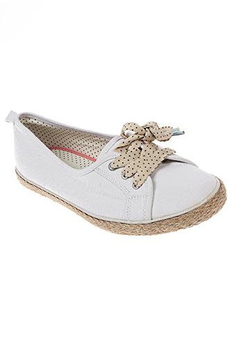 white stuff chaussures femme de couleur blanc