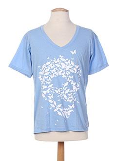T-shirt manches courtes bleu CITYBCH pour homme
