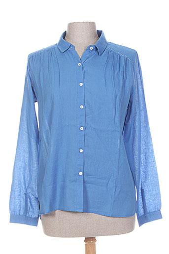 mkt studio chemises femme de couleur bleu