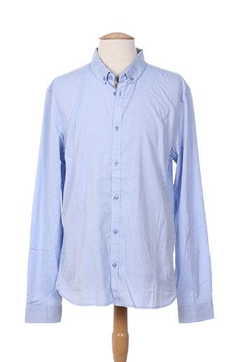 teddy smith chemises homme de couleur bleu