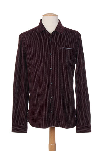 teddy smith chemises homme de couleur rouge
