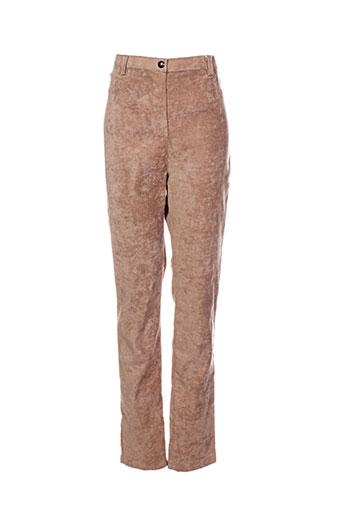 Pantalon casual marron ANGY SIX pour femme