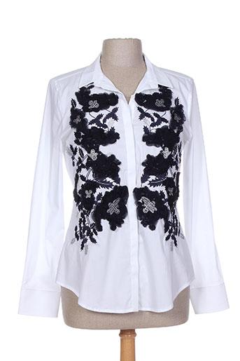 exetera chemises femme de couleur blanc