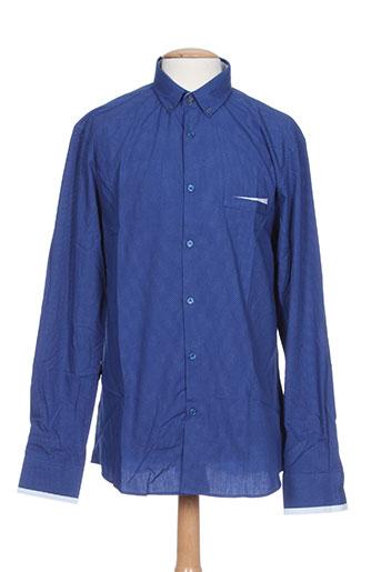 couturist chemises homme de couleur bleu