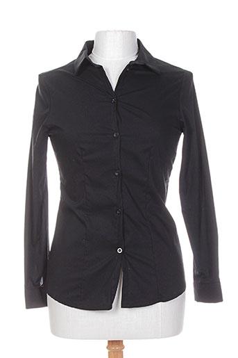 miss miss chemises femme de couleur noir