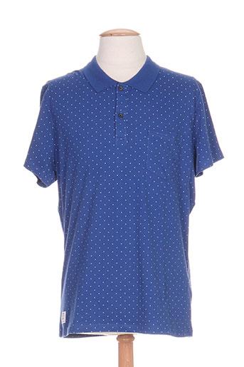 pepe jeans t-shirts homme de couleur bleu