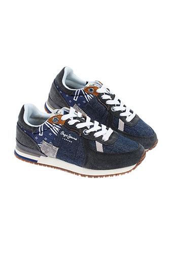 pepe jeans chaussures fille de couleur bleu