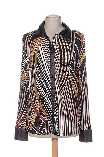 fuegolita chemises femme de couleur noir