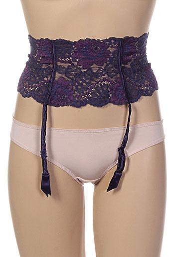 ravage lingerie femme de couleur violet
