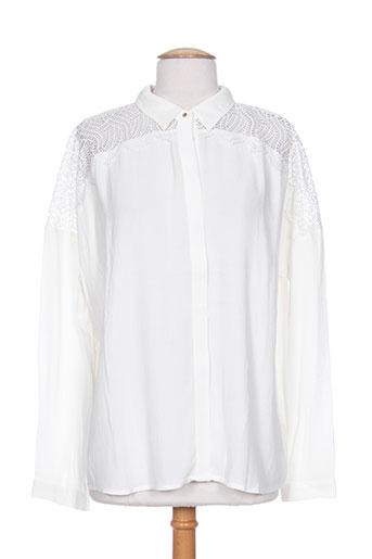 suncoo chemises femme de couleur blanc