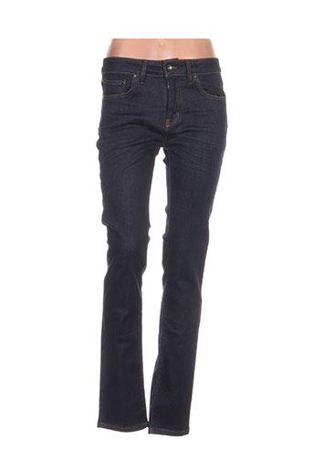 pearly king jeans femme de couleur bleu