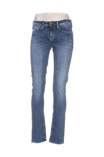 denham jeans femme de couleur bleu