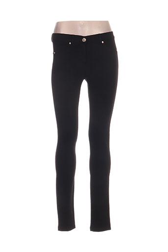 lcdn pantalons femme de couleur noir