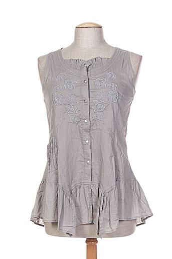 garuda garuzo chemises femme de couleur gris