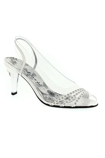 azuree chaussures femme de couleur blanc