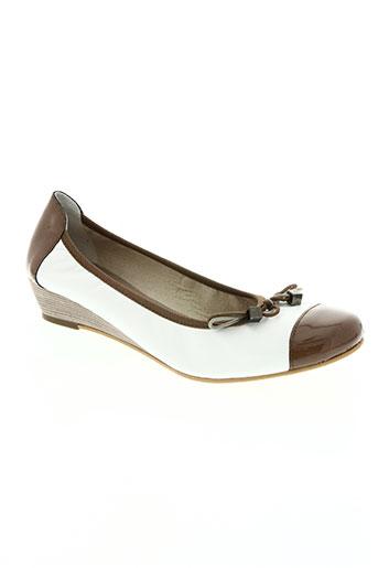hirica chaussures femme de couleur blanc
