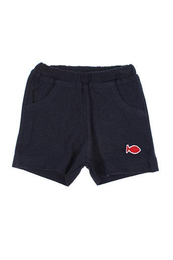 week end a la mer shorts / bermudas enfant de couleur bleu