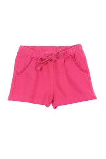 week end a la mer shorts / bermudas enfant de couleur rose