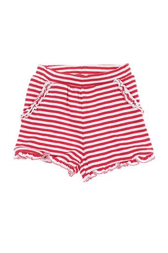 week end a la mer shorts / bermudas enfant de couleur rouge