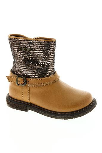 stones and bones chaussures fille de couleur marron