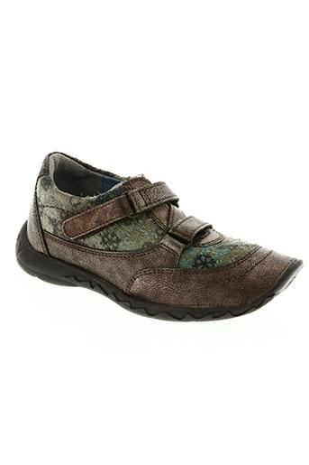 qui courait dans l'herbe... chaussures fille de couleur marron