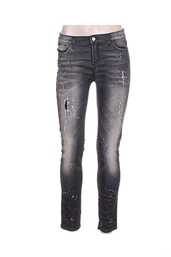 manila grace jeans femme de couleur noir