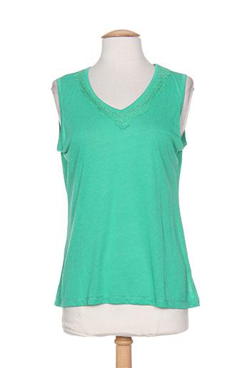 exetera t-shirts femme de couleur vert