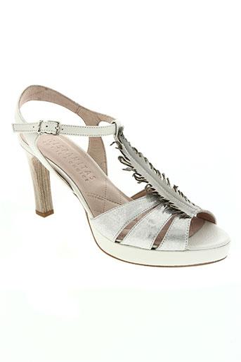 hispanitas chaussures femme de couleur blanc
