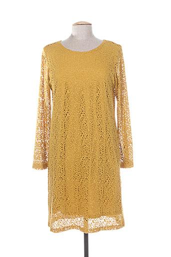 les filles de neaux robes femme de couleur jaune