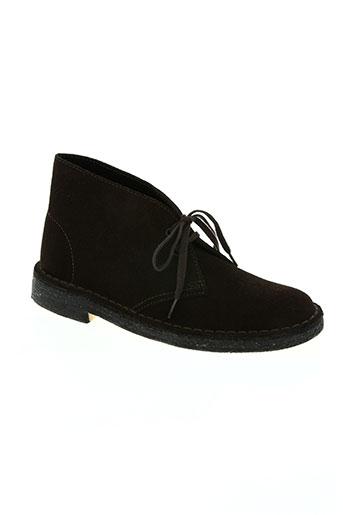 clarks chaussures garçon de couleur marron