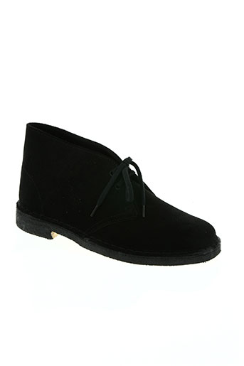 clarks chaussures garçon de couleur noir
