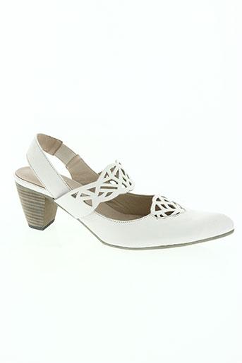 corine chaussures femme de couleur blanc