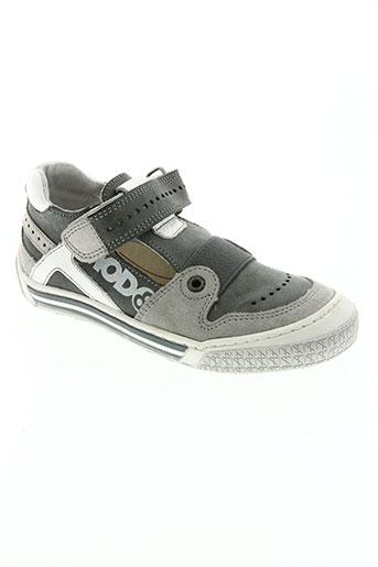 mod8 chaussures garçon de couleur gris