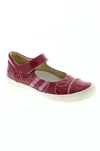 romagnoli chaussures fille de couleur rouge