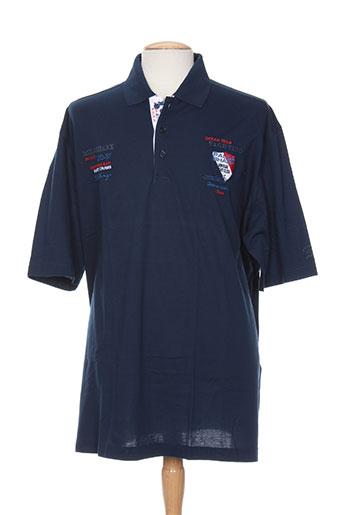 capri t-shirts homme de couleur bleu