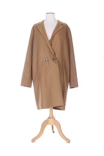 set manteaux femme de couleur marron
