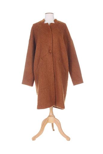 and less manteaux femme de couleur marron