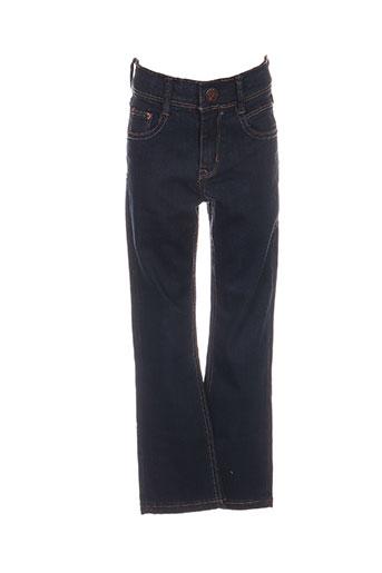 ikks jeans fille de couleur bleu