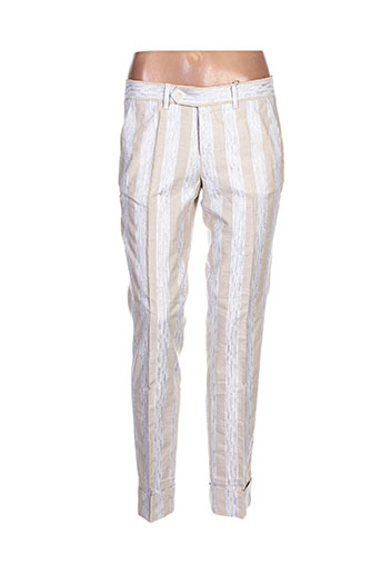 quiet pantalons femme de couleur beige