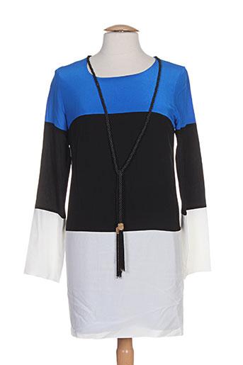 Robe courte bleu ELLA LUNA pour femme