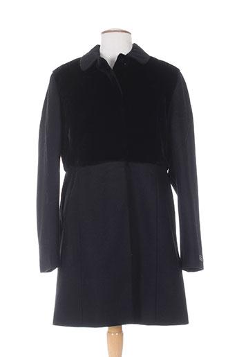 Manteau long noir JULIE GUERLANDE pour femme