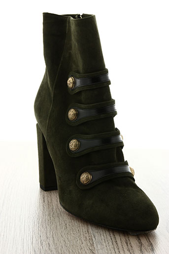pura lopez chaussures femme de couleur vert