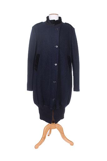 high manteaux femme de couleur bleu