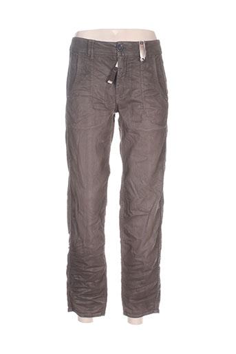 high pantalons femme de couleur marron