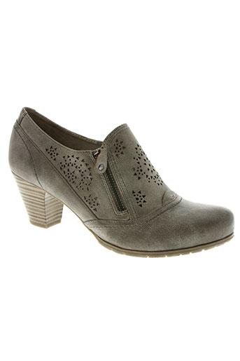 soft line chaussures femme de couleur beige
